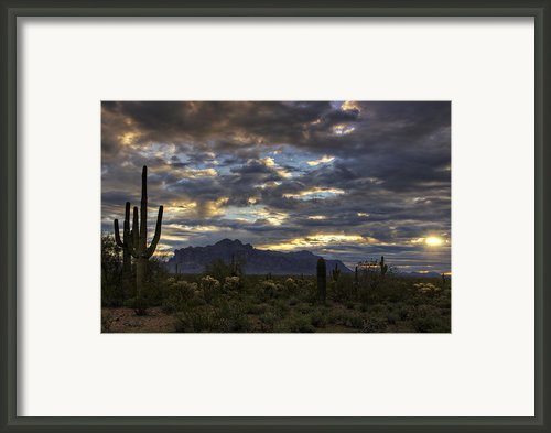 A Winter Sunrise In The Desert  Framed Print By Saija  Lehtonen