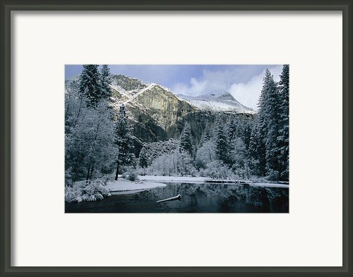 A Winter View Of The Merced River Framed Print By Marc Moritsch