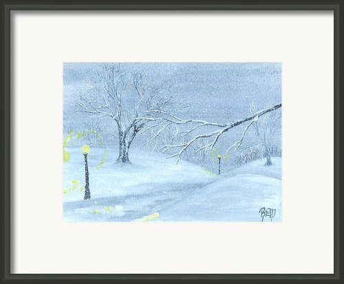 A Winter Walk... Framed Print By Robert Meszaros