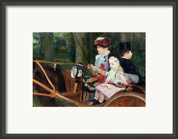 A Woman And Child In The Driving Seat Framed Print By Mary Stevenson Cassatt