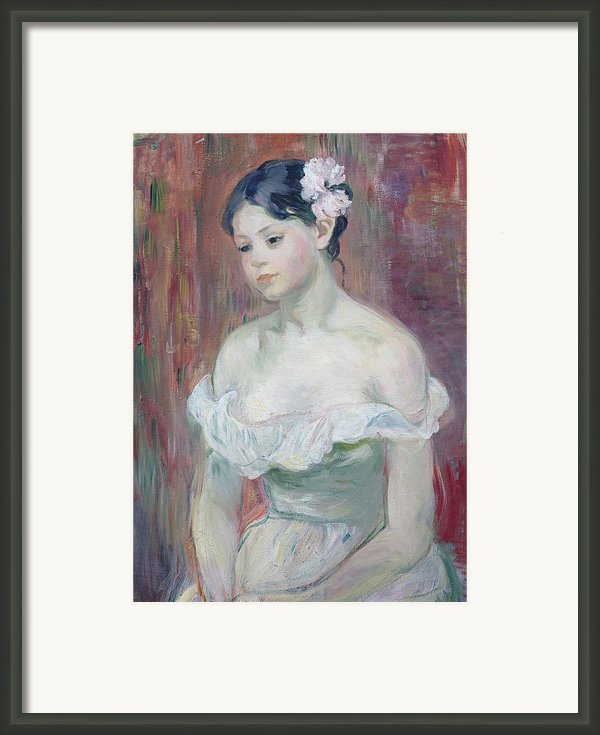 A Young Girl Framed Print By Berthe Morisot