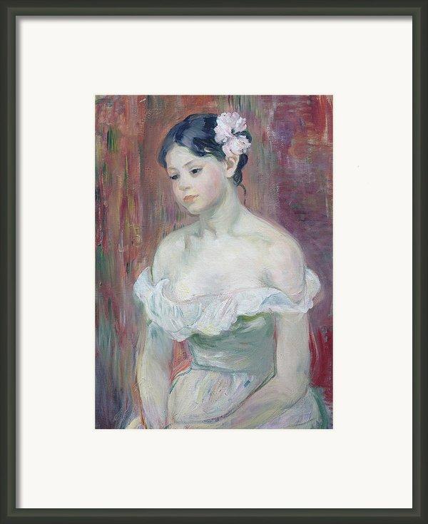 A Young Girl Framed Print By Berthe Morisot