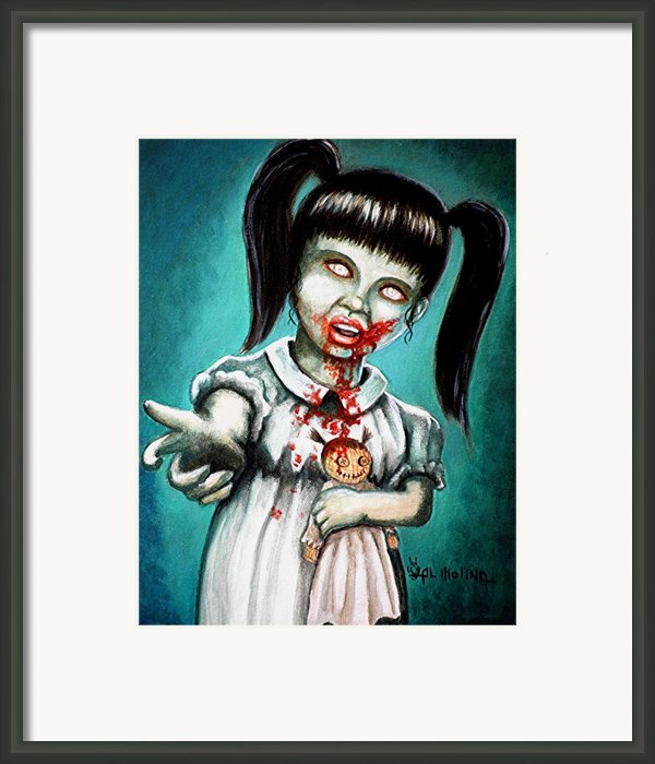 Aaarrgg Thats Zombie Talk For Mommy Framed Print By Al  Molina