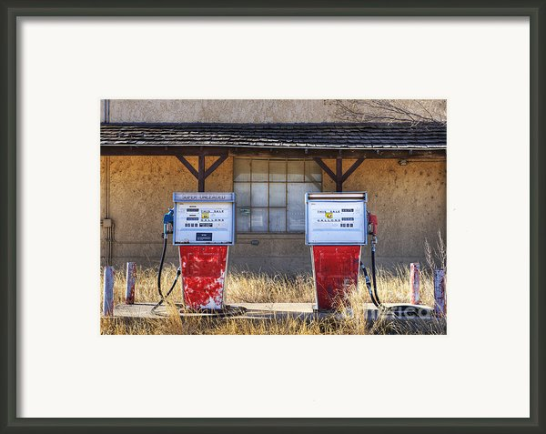 Abandoned Gas Pumps And Station Framed Print By Dave & Les Jacobs