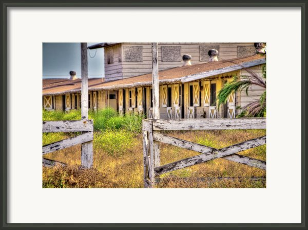 Abandoned Horse Stables Framed Print By Connie Cooper-edwards