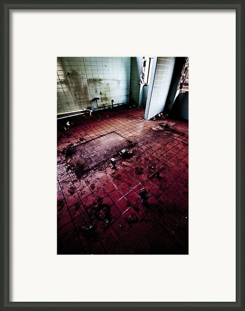Abandoned Locker Room Framed Print By Christopher Kulfan