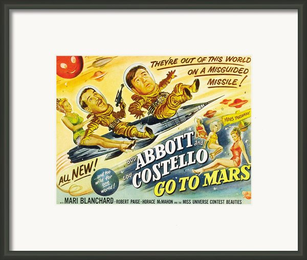 Abbott And Costello Go To Mars, Bud Framed Print By Everett