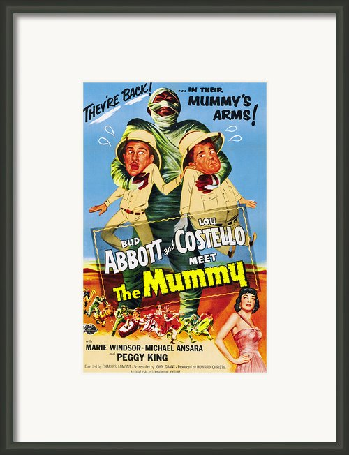 Abbott And Costello Meet The Mummy Aka Framed Print By Everett