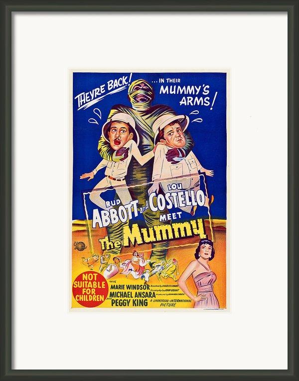 Abbott And Costello Meet The Mummy Framed Print By Everett