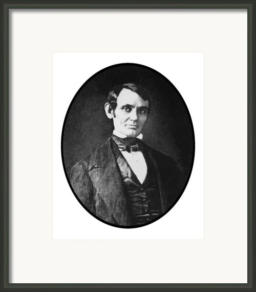 Abe Lincoln As A Young Man  Framed Print By War Is Hell Store