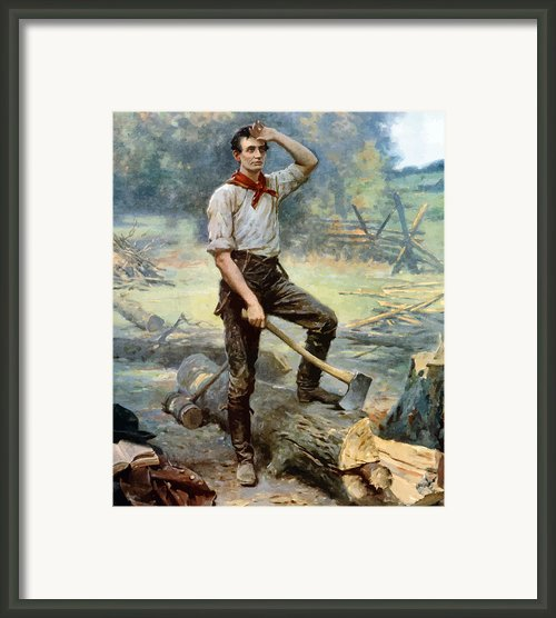 Abe Lincoln The Rail Splitter  Framed Print By War Is Hell Store