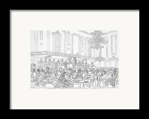 Abolition Cartoon, 1859 Framed Print By Granger