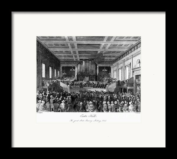 Abolition Convention, 1840 Framed Print By Granger