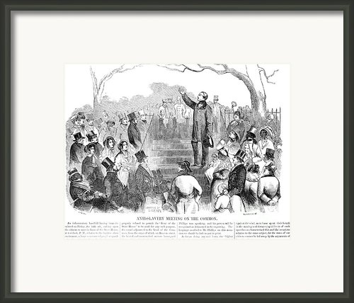 Abolition: Phillips, 1851 Framed Print By Granger