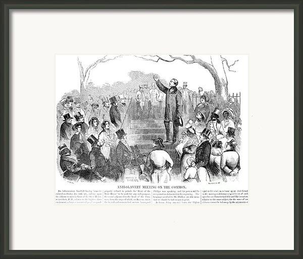 Abolition: Phillips, 1851 Framed Print By Granger