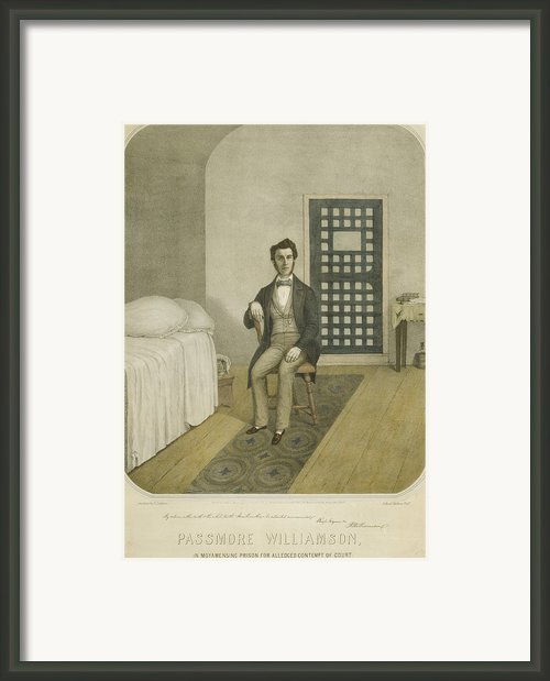 Abolitionist Passmore Williamson Framed Print By Everett