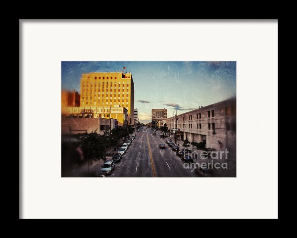 Above College Avenue Framed Print By Shutter Happens Photography
