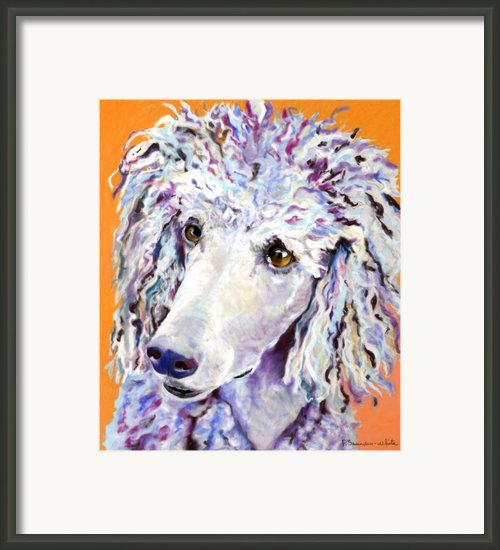 Above The Standard   Framed Print By Pat Saunders-white