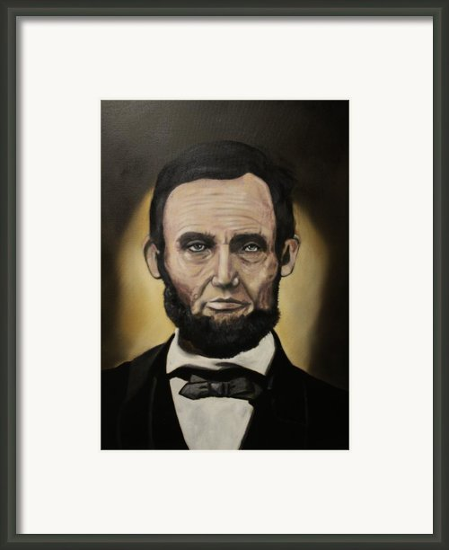 Abraham Lincoln Framed Print By Michael Kulick