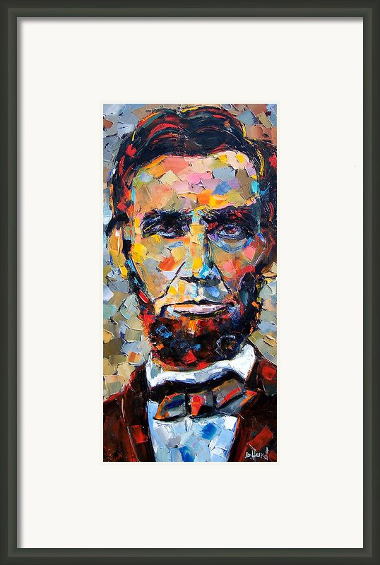 Abraham Lincoln Portrait Framed Print By Debra Hurd