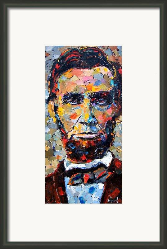 Abraham Lincoln Portrait Framed Print By Debra Hurd