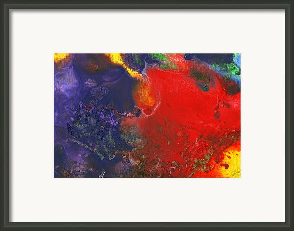 Abstract - Crayon - Andromeda Framed Print By Mike Savad