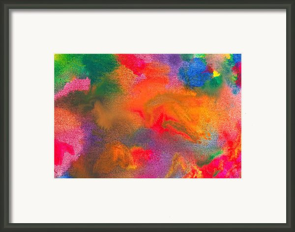 Abstract - Crayon - Melody Framed Print By Mike Savad