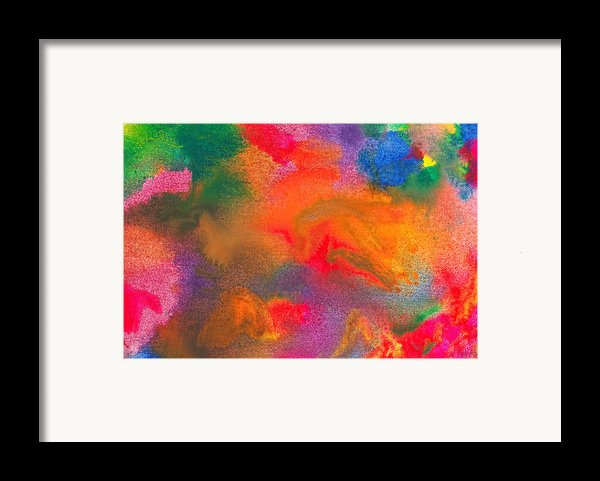 Abstract - Crayon - Melody Framed Print By Mike Savad