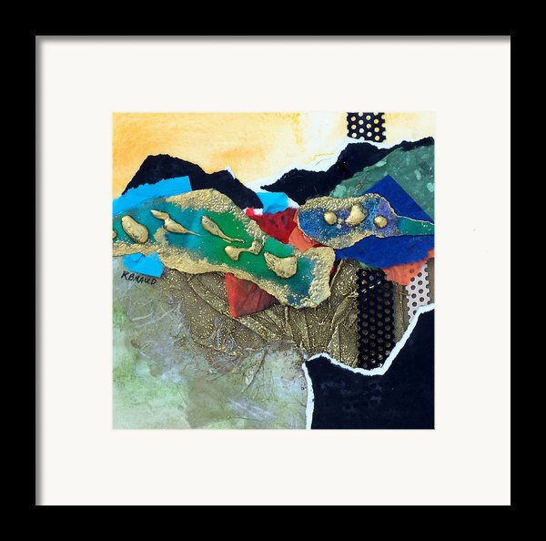 Abstract 2011 No.1 Framed Print By Kathy Braud