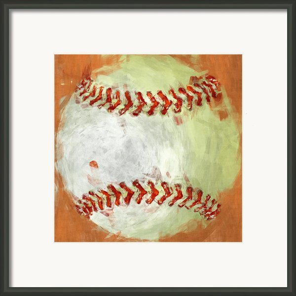 Abstract Baseball Framed Print By David G Paul