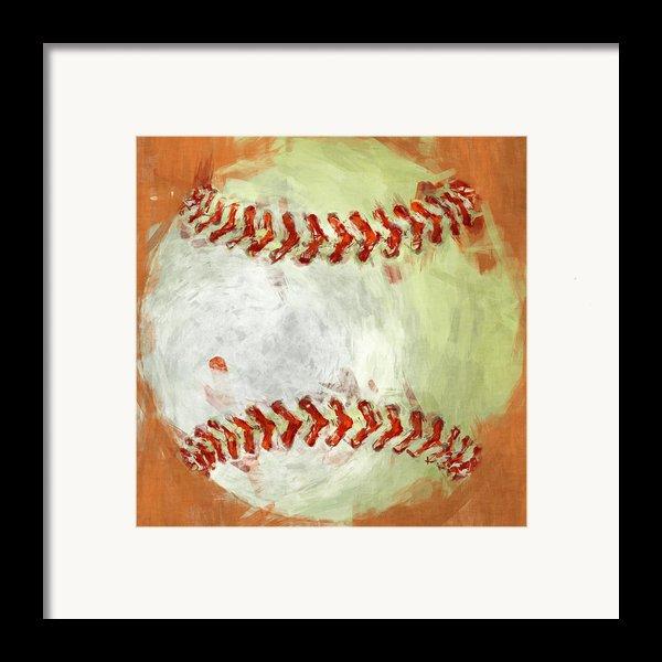Abstract Baseball Framed Print By David G Paul