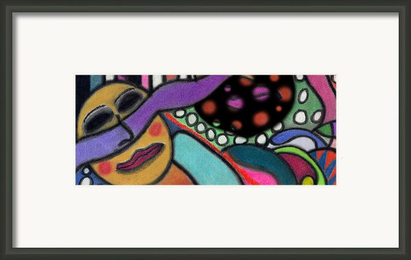 Abstract Circular Figure Framed Print By Christine Perry