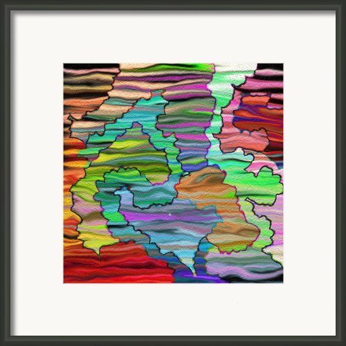 Abstract Emotions  Framed Print By Gina Manley