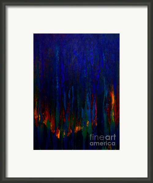 Abstract Evergreens Framed Print By Claire Bull