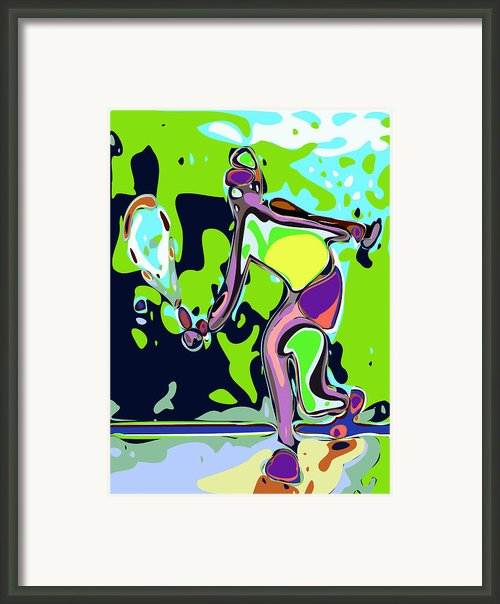 Abstract Female Tennis Player 2 Framed Print By Chris Butler