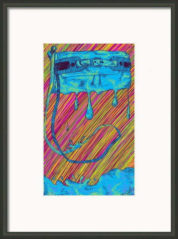 Abstract Handbag Drips Color Framed Print By Kenal Louis