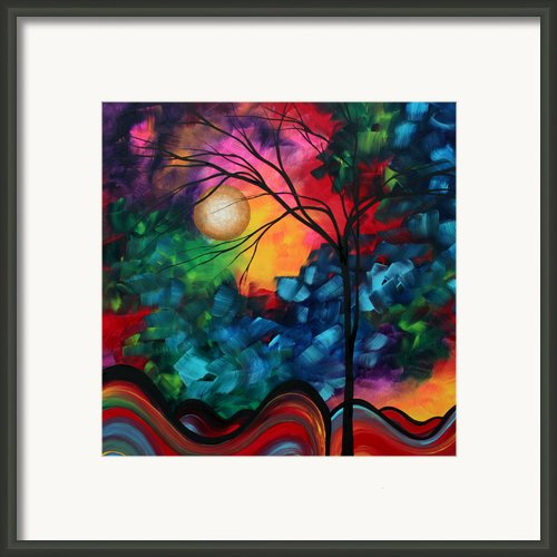 Abstract Landscape Bold Colorful Painting Framed Print By Megan Duncanson