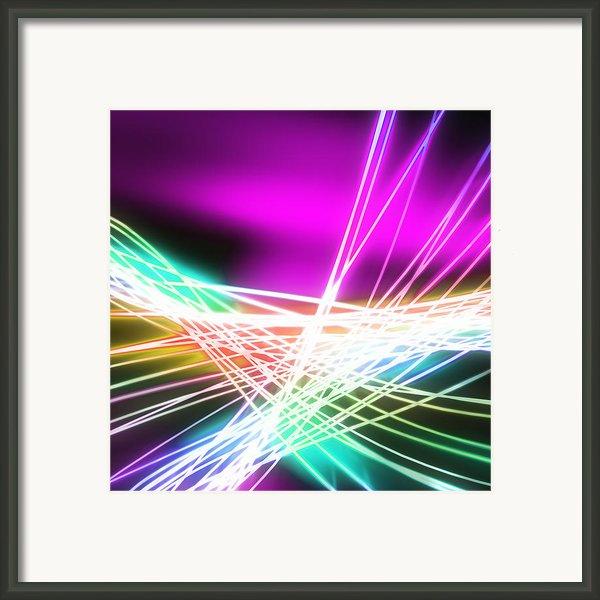Abstract Of Weaving Line Framed Print By Setsiri Silapasuwanchai