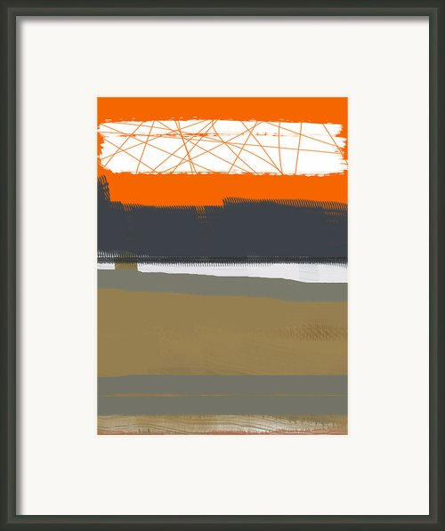 Abstract Orange 1 Framed Print By Irina  March