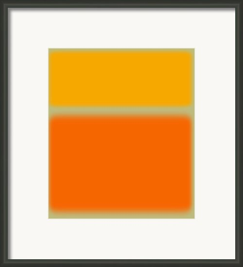 Abstract Orange And Yellow Framed Print By Irina  March