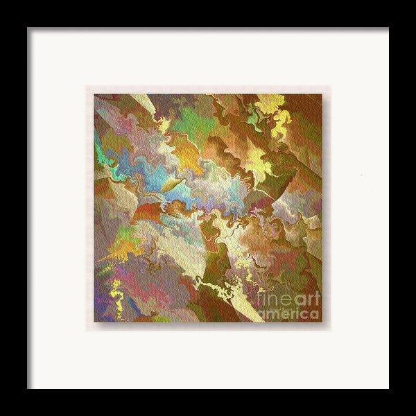 Abstract Puzzle Framed Print By Deborah Benoit