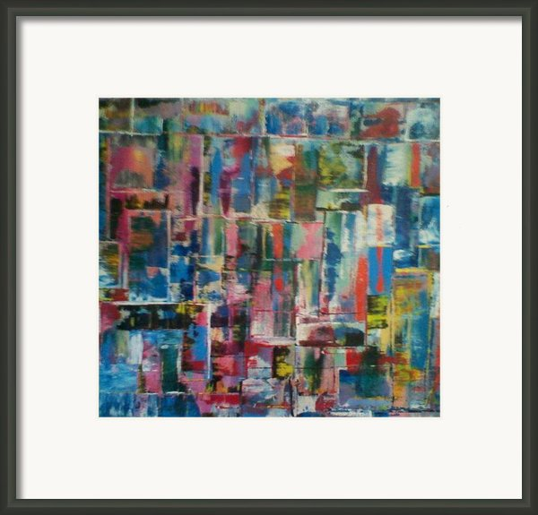 Abstract Quilt 2 Framed Print By Robert Anderson
