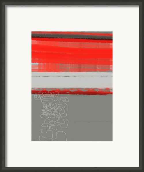 Abstract Red 1 Framed Print By Irina  March