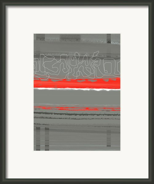 Abstract Red 3 Framed Print By Irina  March