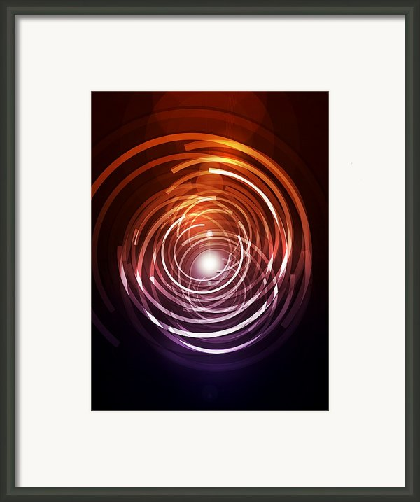Abstract Rings Framed Print By Michael Tompsett