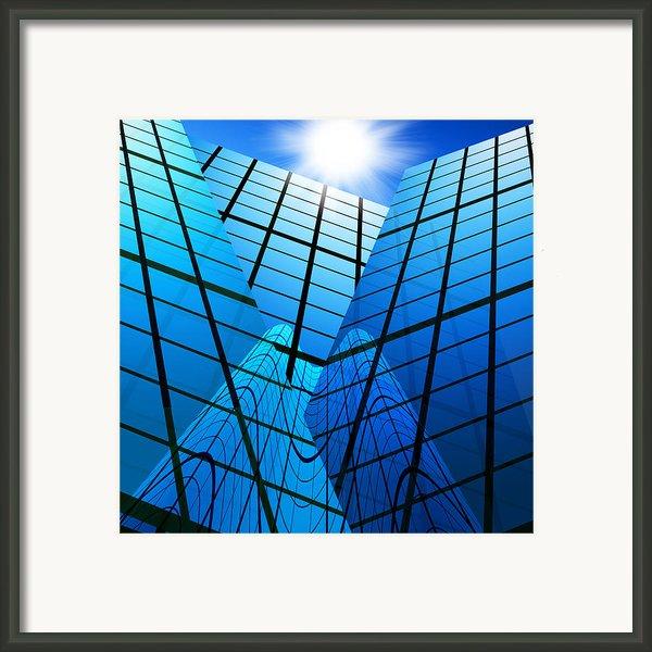 Abstract Skyscrapers Framed Print By Setsiri Silapasuwanchai