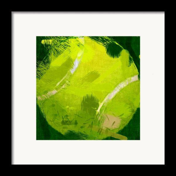 Abstract Tennis Ball Framed Print By David G Paul
