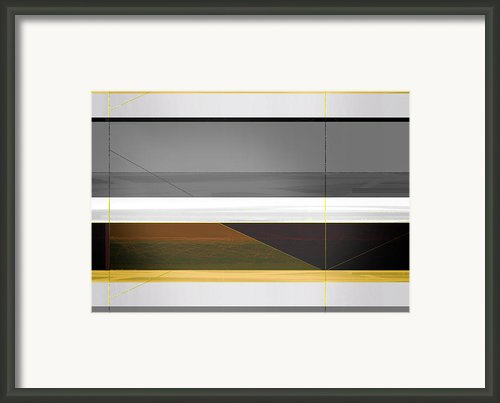 Abstract Yellow And Grey  Framed Print By Irina  March