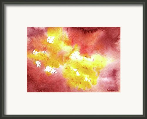 Abstract Yellow Connectors Framed Print By Sean Seal
