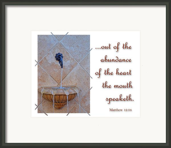 Abundance Of The Heart Framed Print By Larry Bishop
